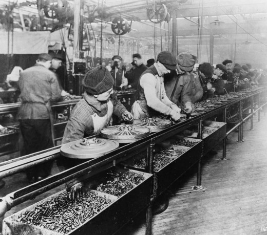 Henry Ford's invention of the automobile and assembly line enabled a lot of people to easily earn a good living.