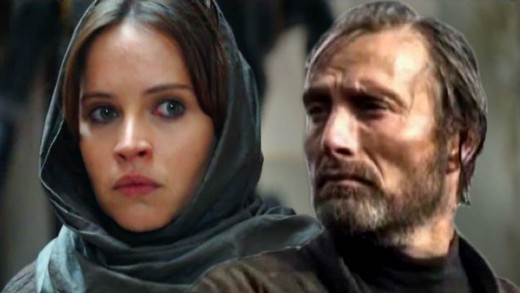Jyn and Galen Erso