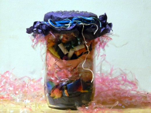 Have old or unused art supplies taking up space in your home? Transform them into whimsical jar decorations in under an hour with this super easy tutorial!