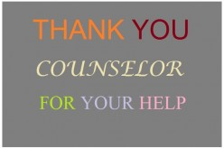 Thank-You Notes and Appreciation Messages to a Counselor