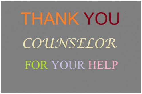 Thank-You Note to Counselor