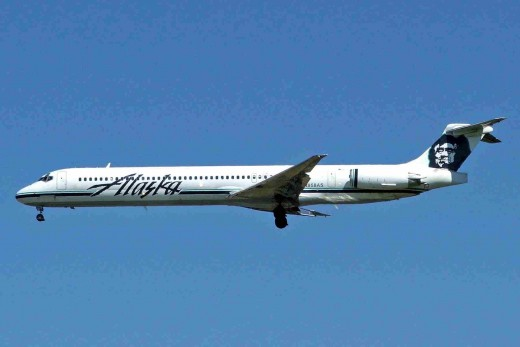 Alaska Airlines MD-83, similar to the accident aircraft