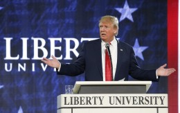 Donald Trump at Liberty University.