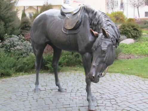 Statue in Baranavichy, Belarus.