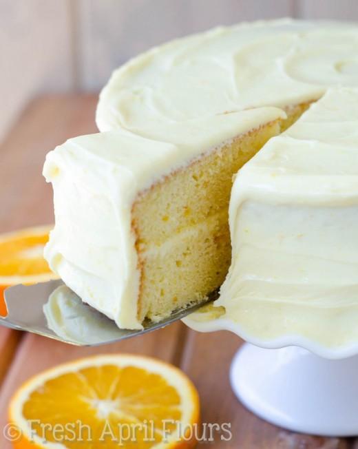 Orange Creamsicle Layer Cake