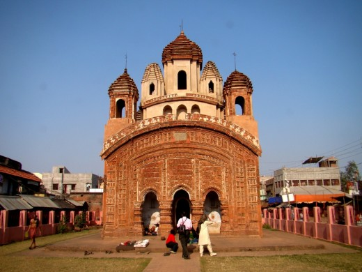 Radha Govinda temple, Joydev-Kenduli; Birbhum district; a 'Nabaratna' type temple