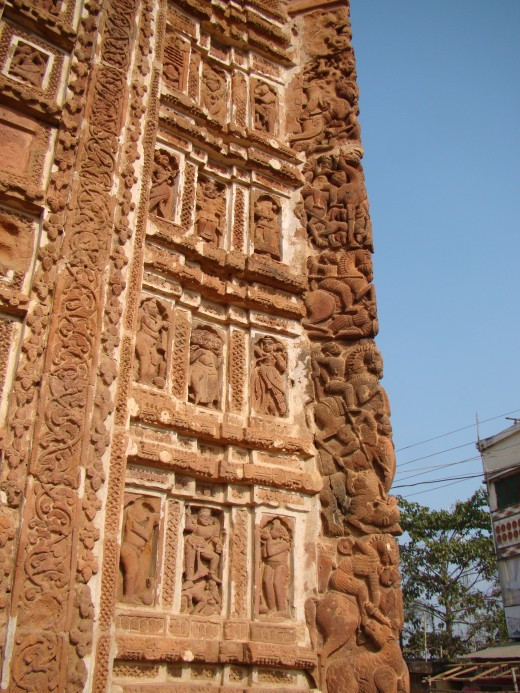 A 'Mrityulata' panel showing its angular position. From Radha Govinda temple, Joydev-Kenduli, Birbhum