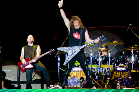 Anvil, as a band, are just as loud and energetic as they were in their heyday...