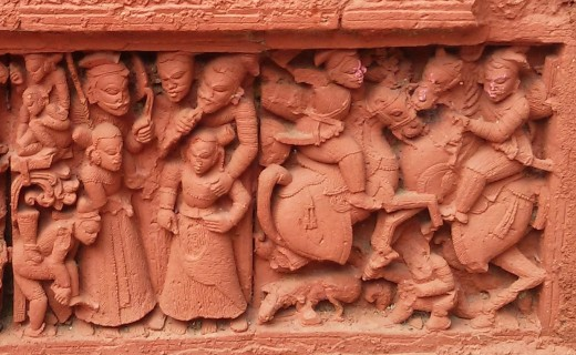 Social scene : Nandadulal Jiu temple, Gurap