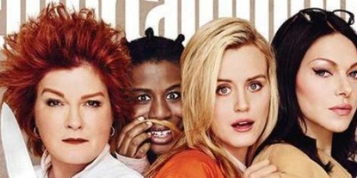 Piper with some of the other inmates.