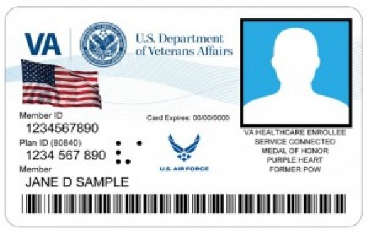 A VAHIC (The Veteran Health Identification Card -as a VA health care enrollee, this is what I have and use) If you do not have one, you can go to www.va.gov/healthbenefits/enroll to enroll.