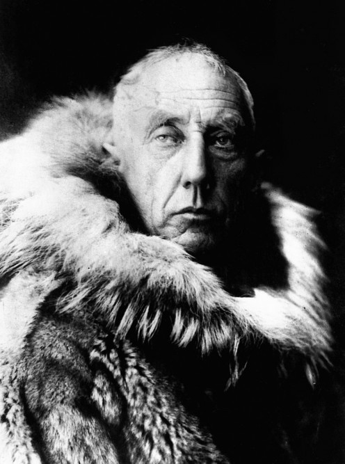 Amundsen in fur skins