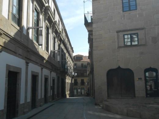 Alley in Vigo, Spain.