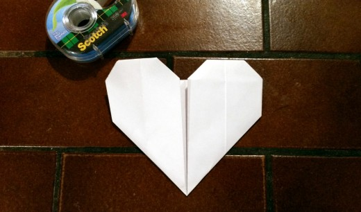 Your Heart Should Now Look Like This. To make it look nice and neat, grab some scotch tape.
