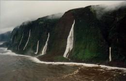 Kahala coast & multiple waterfalls - (purchased this photo)