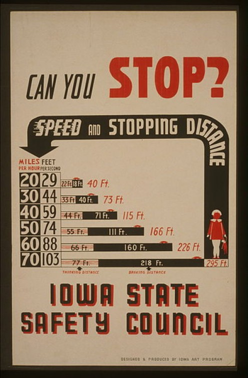 Automobile speed safety guidelines have been available in America since September 16, 1940 or before.
