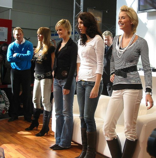 "Contestants line up for German TV show ""Germany's Next Top Model""."