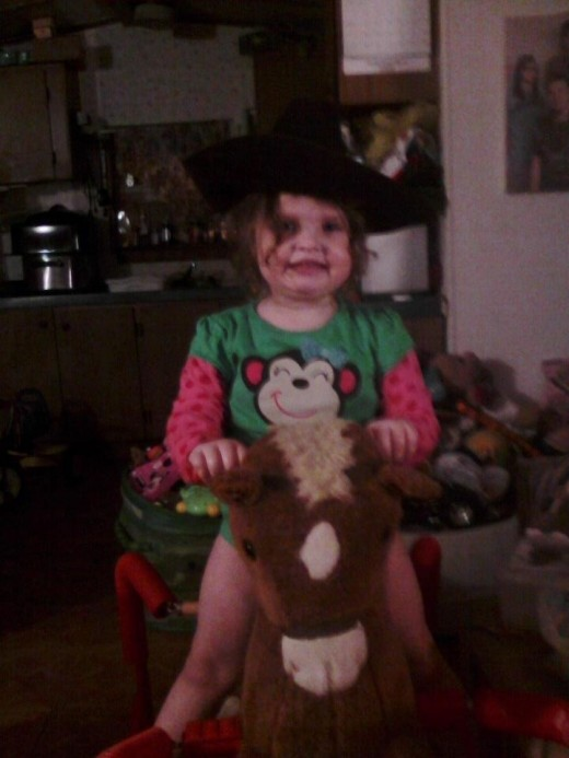 My granddaughter cowgirl Leah.