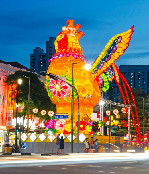 Each year, the showpiece of the Chinatown Light-Up is the gigantic Chinese Zodiac animal of the incoming year.