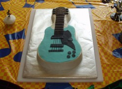 How to Make a Guitar Shaped Cake