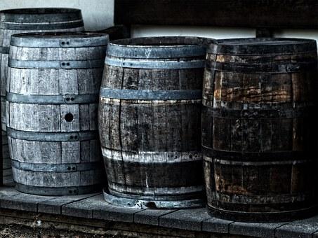 Barrels or waterpots