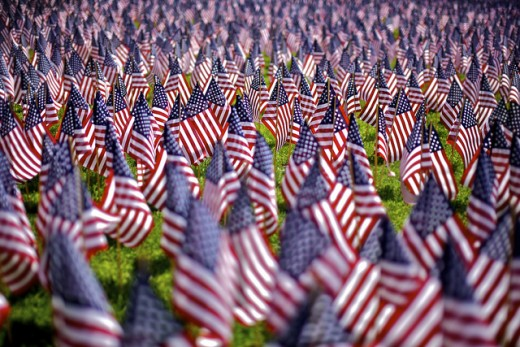 Memorial Day Grave Flags