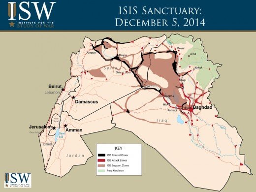 ISIS Control in December 2014