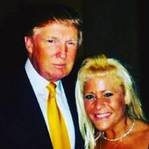 My family has deep roots in Austria, as Trump does. Here he is with my sister.