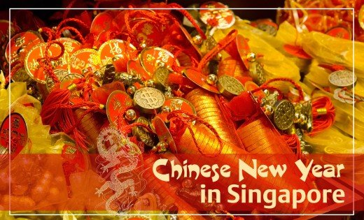 Chinese New Year in Singapore is a fascinating display of red, gold, and enchanting street decorations.