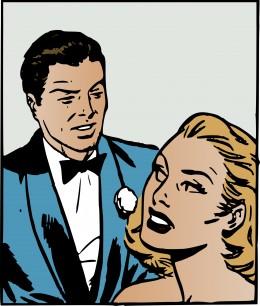 You look like a dork in that blue 70s tuxedo.