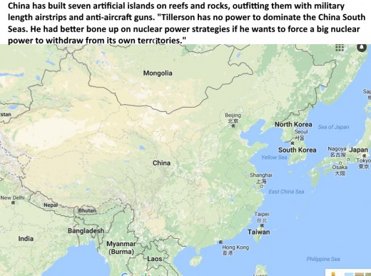 """Blocking Chinese access to the islands """"could spark armed conflict,"""" said Mark Fitzpatrick, at the International Institute for Strategic Studies. """"I can't help but think that he did not mean it this way."""""""