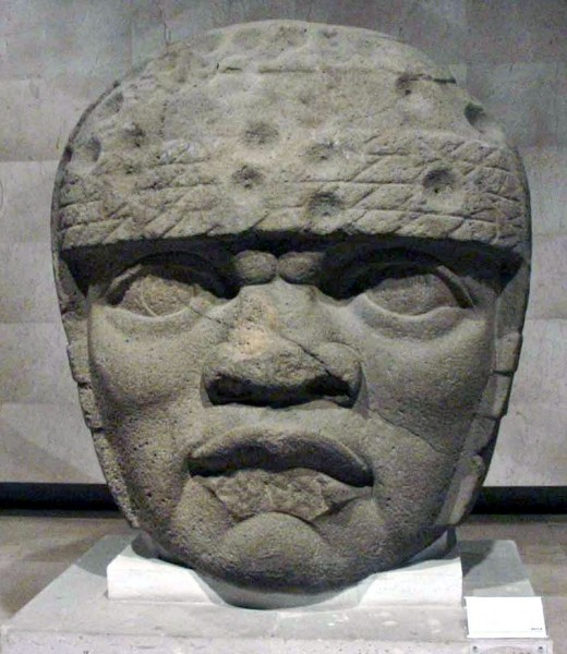Olmec Colossal Head 3 from San Lorenzo Tenochtitlán, Veracruz, Mexico.