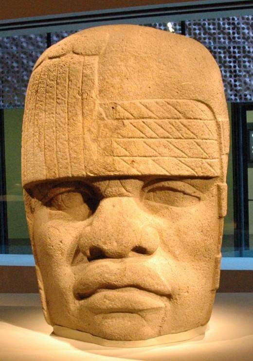 Colossal Head 4 from San Lorenzo Tenochtitlán, Veracruz, Mexico. The head is on permanent display at the Museo de Antropología de Xalapa in Veracruz, Mexico