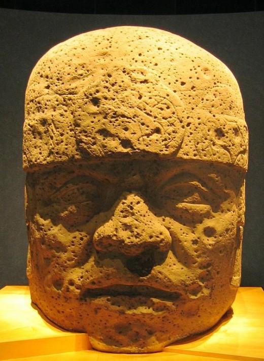 San Lorenzo Colossal Head 2, from San Lorenzo Tenochtitlán, Veracruz. In the Museo Nacional de Antropología, Mexico City.
