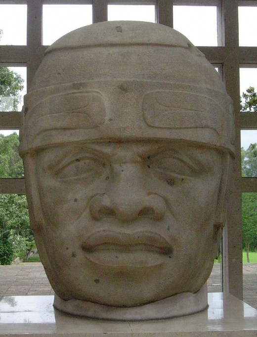 San Lorenzo Colossal Head 8 (also known as Monument 61), in the Museo de Antropología in Xalapa