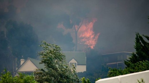 Fire at Somerset West, January 2017