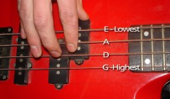 Bass guitar tuning