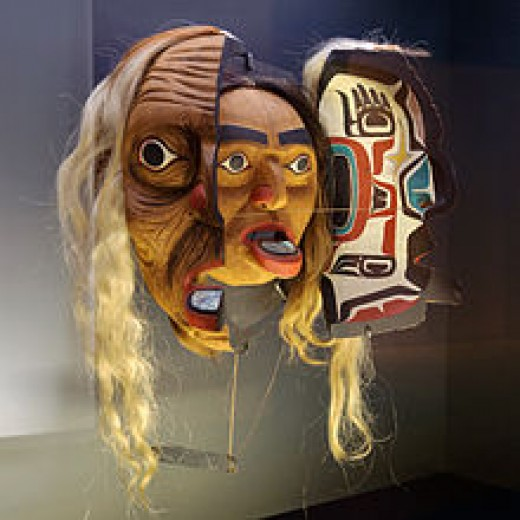 Kwakwaka'wakw three layered mask