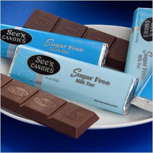 Sees sugar free milk chocolate bars.