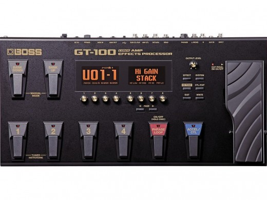 The BOSS GT-100 is among the best guitar multi-effects pedals out there.