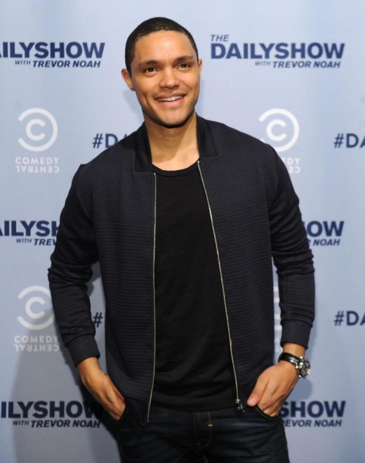 Trevor Noah, host of the American talk show, The Daily Show is paid to listen.