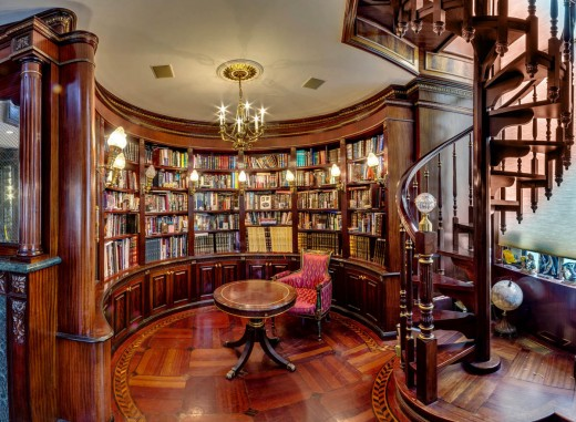 Classic home library design