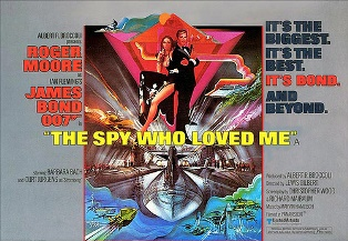 The Spy Who Loved Me U.K. theatrical release poster.