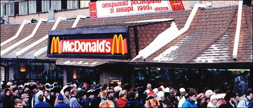 The first Russian McDonald's, prostitution magnet.