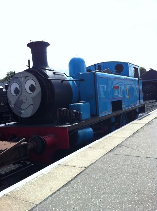Thomas the tank engine at Nene valley railway Cambridgeshire
