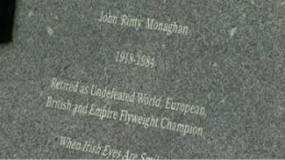 """""""Rinty"""" Monaghan was the world flyweight champion and he retired while still the champ."""