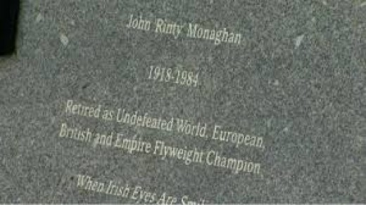 """Rinty"" Monaghan was the world flyweight champion and he retired while still the champ."