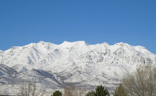 Timpanogus Mountain near my home in Orem, Utah  Personal photo REK