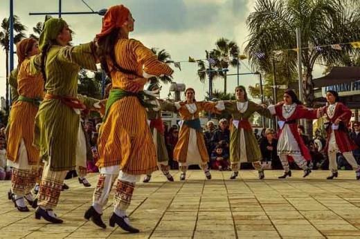 Folk dancing represents a community's native interest.