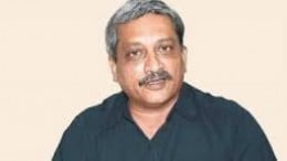 The defense Minister Mohan Parrikar